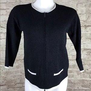 LINDA ALLARD ELLEN TRACY Sweater Cardigan Petite